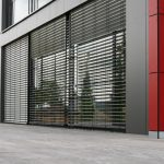 Building with aluminium panels