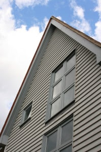 Timber gabled house with Cills and flashing