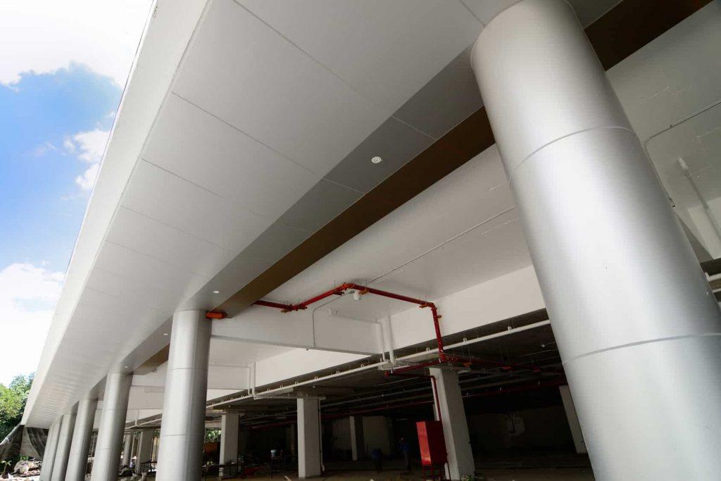 Aluminium column cladding