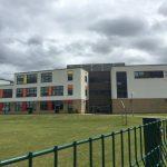 alumnium panels in buildings used in a modern school