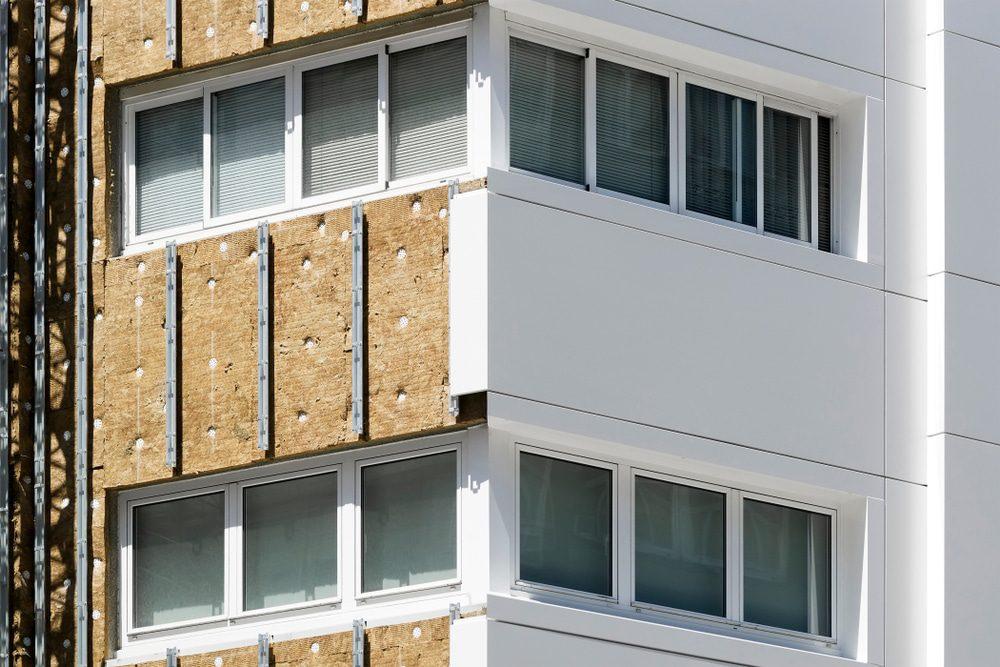 Aluminium panels for refurbishments